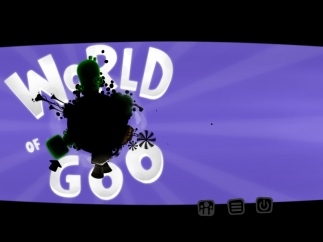 You begin World of Goo from this planetoid start screen.