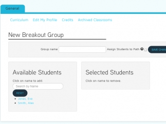 Teachers can create break-out groups for differentiated instruction.