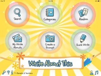 Students can jump right into a random prompt, free write, or search for a theme.