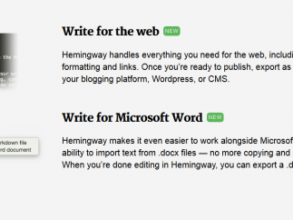Write for the web or for Microsoft Word.