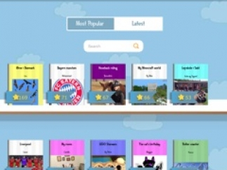 Kids can read books published by other kids or publish their own publicly.