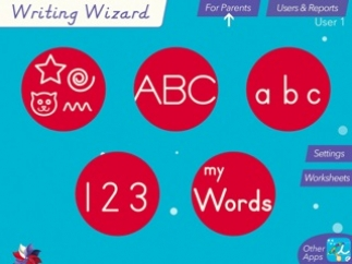 Practice writing letters, numbers, shapes, and custom word lists.