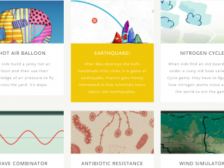 Games are available on a variety of science topics, such as the nitrogen cycle.