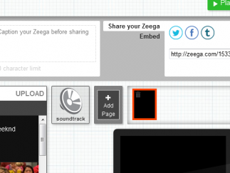 Zeegas are made for sharing; you can use all the social media channels.