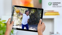Image of young kid on an ipad