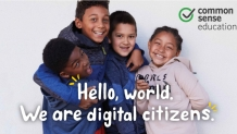 "happy kids with text ""We Are Digital Citizens"""