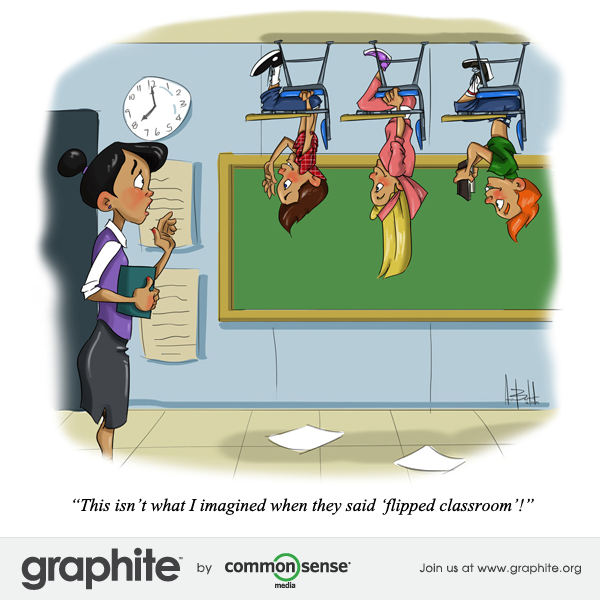 flipped classroom learning cartoon