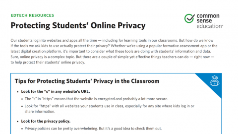 Protect Your Students' Data and Privacy | Common Sense Education
