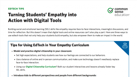 Empathy In Action How Teachers Prepare >> Inspire Empathy In Your Students Common Sense Education